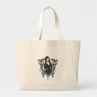 Bellatrix Lestrange Dark Arts Design Large Tote Bag