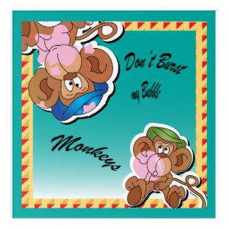 Don't Burst My Bubble Silly Monkeys Acrylic Wall Art