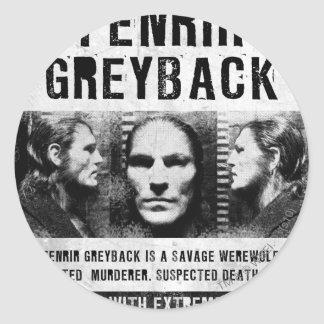 Fenrir Greyback Wanted Poster Classic Round Sticker