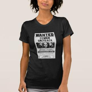 Fenrir Greyback Wanted Poster T-shirts
