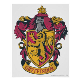 Gryffindor crest red and gold poster
