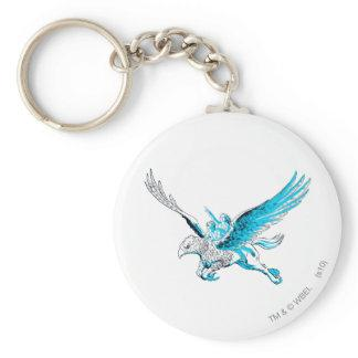Harry and Hermione on a Hippogriff Basic Round Button Keychain Zazzle_keychain