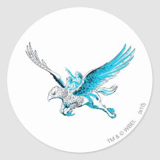 Harry and Hermione on a Hippogriff Classic Round Sticker Zazzle_sticker
