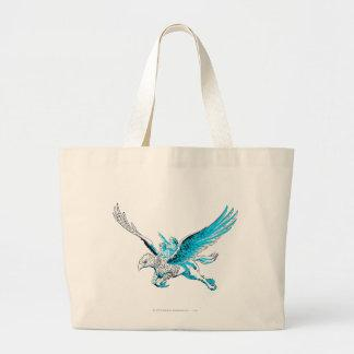 Harry and Hermione on a Hippogriff Large Tote Bag Zazzle_bag