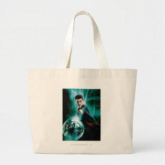 Harry Potter and Voldemort Only One Can Survive Large Tote Bag Zazzle_bag