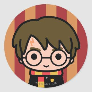 Harry Potter Cartoon Character Art Classic Round Sticker Zazzle_sticker