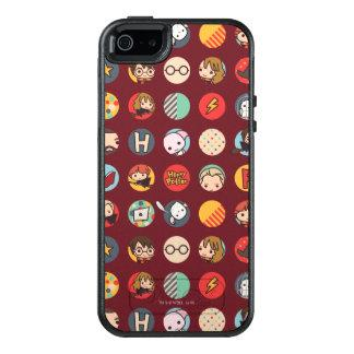 Harry Potter Cartoon Icons Pattern OtterBox iPhone 5/5s/SE Case Zazzle_otterbox