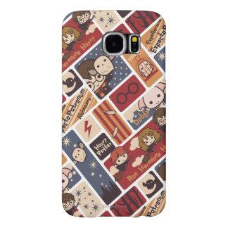 Harry Potter Cartoon Scenes Pattern Samsung Galaxy S6 Case