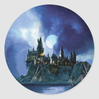 Hogwarts By Moonlight Classic Round Sticker