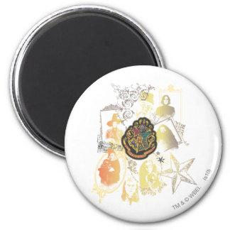 Hogwarts Logo and Professors 2 Inch Round Magnet Zazzle_magnet