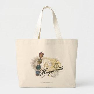 Hogwarts Logo and Professors 2 Large Tote Bag