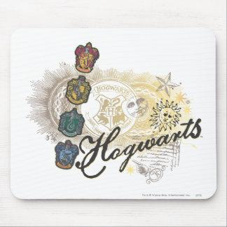 Hogwarts Logo and Professors 2 Mouse Pad Zazzle_mousepad