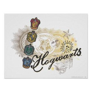 Hogwarts Logo and Professors 2 Poster Zazzle_print