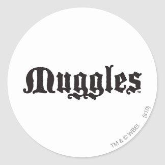 Muggles Classic Round Sticker Zazzle_sticker