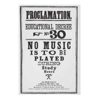 Proclamation 30 poster