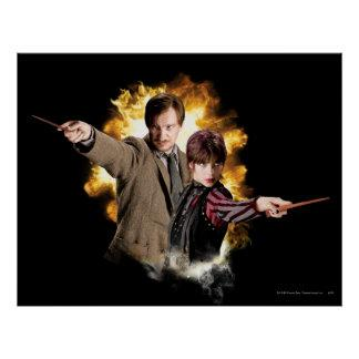 Remus Lupin and Nymphadora Tonks-Lupin Poster