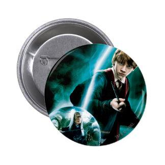 Ron Weasley and Lucius Malfoy 2 Inch Round Button
