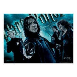 Severus Snape With Death Eaters 1 Poster Zazzle_print