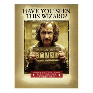 Sirius Black Wanted Poster Postcard