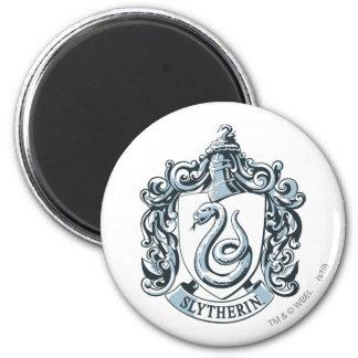 Slytherin Crest Blue 2 Inch Round Magnet Zazzle_magnet
