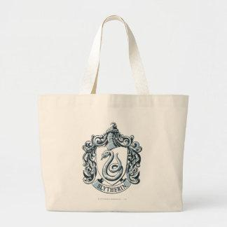 Slytherin Crest Blue Large Tote Bag