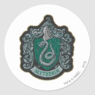 Slytherin Crest Classic Round Sticker Zazzle_sticker