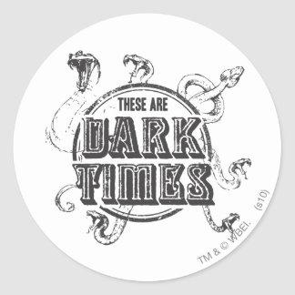 There are Dark Times Round Sticker