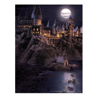 Hogwarts Boats To Castle Postcard
