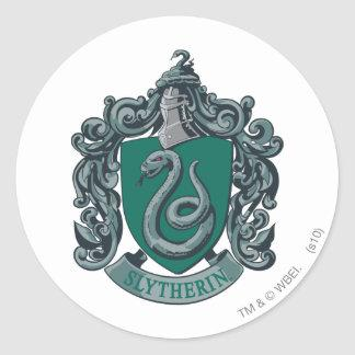 Slytherin Crest Green Classic Round Sticker